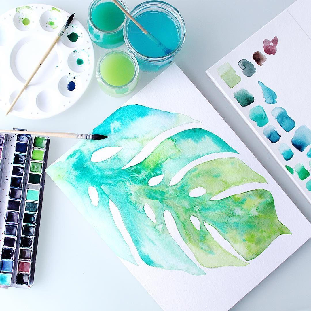 Lencreriemarine Watercolor Illustration Plante