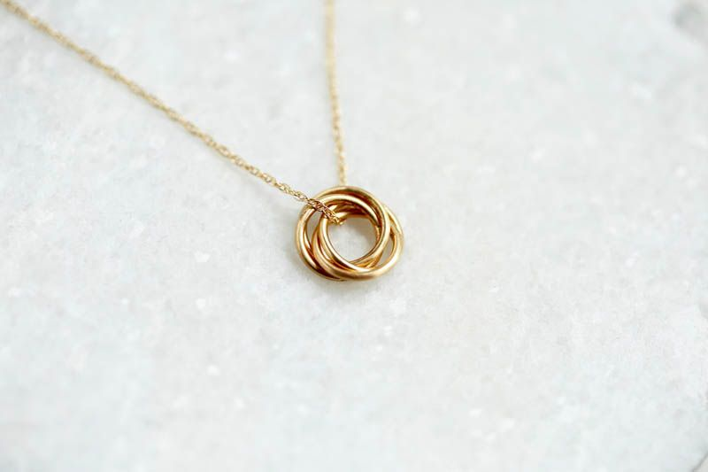 Handcrafted 14k Fine Gold 40th Birthday Necklace Makes Luxurious Gift For Her Gifts Wife Jewelry All Special Birthdays