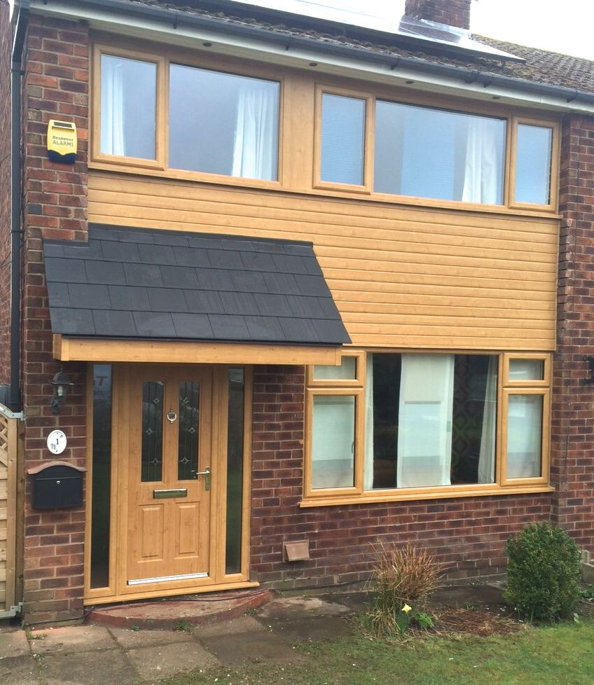 Irish oak upvc windows door and cladding by www for Window cladding