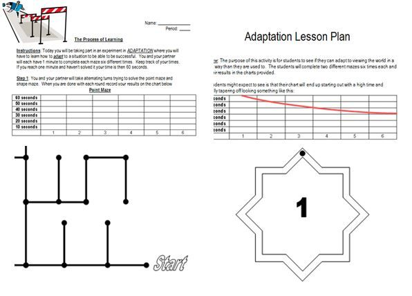 This is a great Friday activity to do with students whether you are teaching them about adaption in Psychology or if you are looking for a day where students need to be active. Included are detailed instructions as to how to participate as well as printable mazes. Always a hit! Follow me on Facebook at https://www.facebook.com/survivingsocialstudies