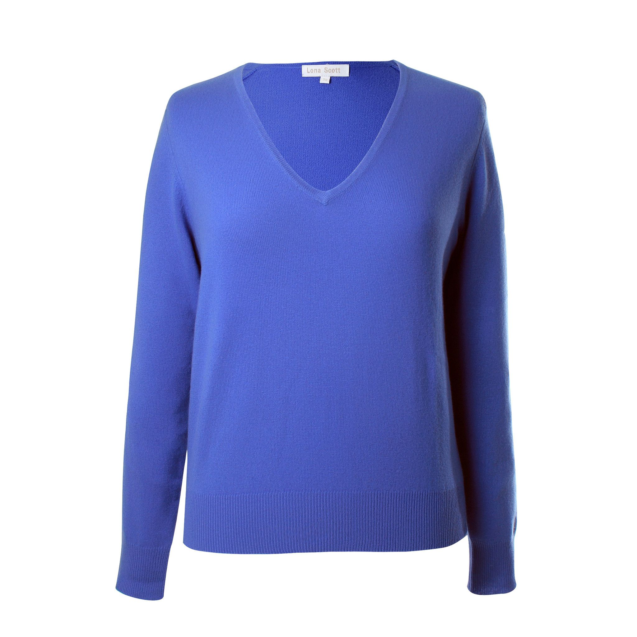 Cornflower Blue Ladies Cashmere V Neck Sweater | Tops | Pinterest ...