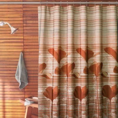 Parker Loft® California Poppy 72-Inch x 72-Inch Shower Curtain ...