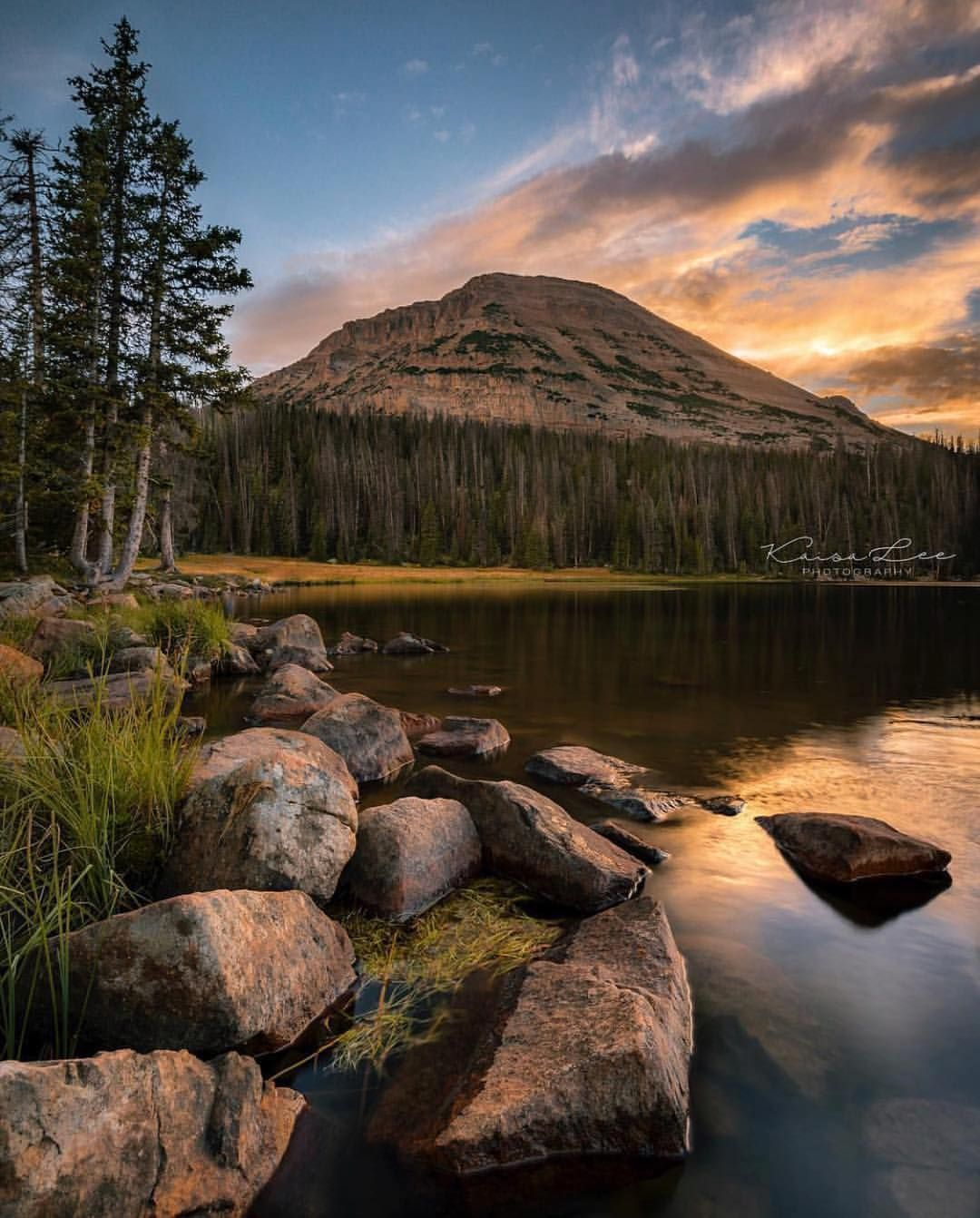 The Beautiful Mirror Lake In The Uinta Mountains In Utah Just A Short Drive From Salt Lake City N Utah Mountains Photography Lake Photography Scenic Drive