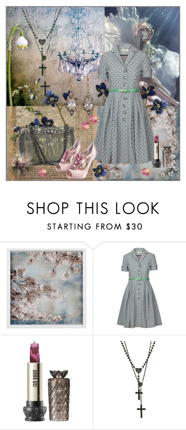 """""""Untitled #669"""" by elsakurppa ❤ liked on Polyvore featuring Orla Kiely, Anna Sui, Wildfox and Cathy Waterman"""