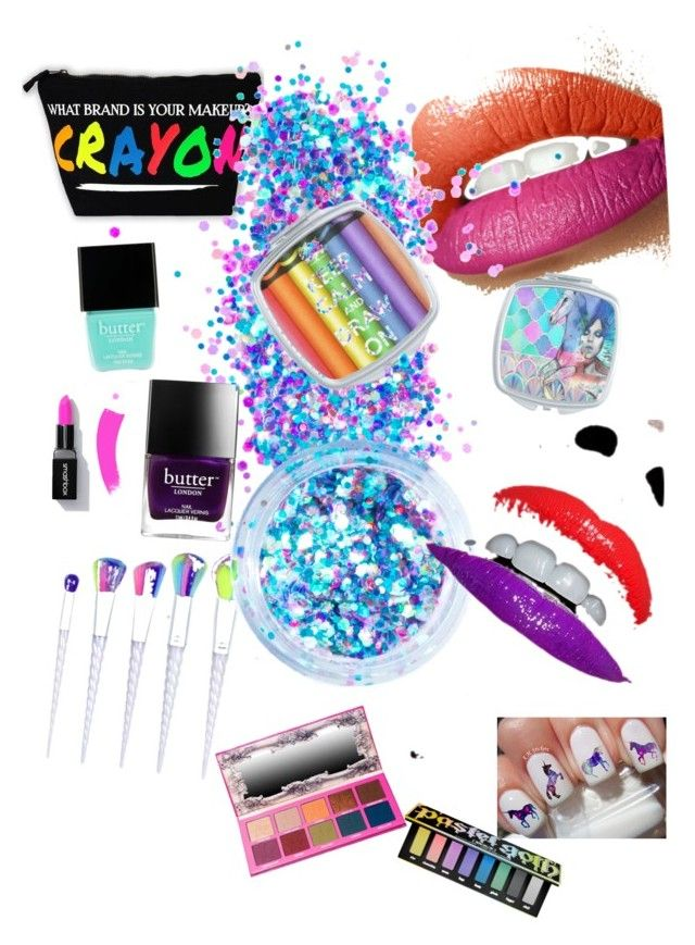"""""""Somewhere over the rainbow"""" by lauren-shover ❤ liked on Polyvore featuring beauty, In Your Dreams, Butter London and Kat Von D"""