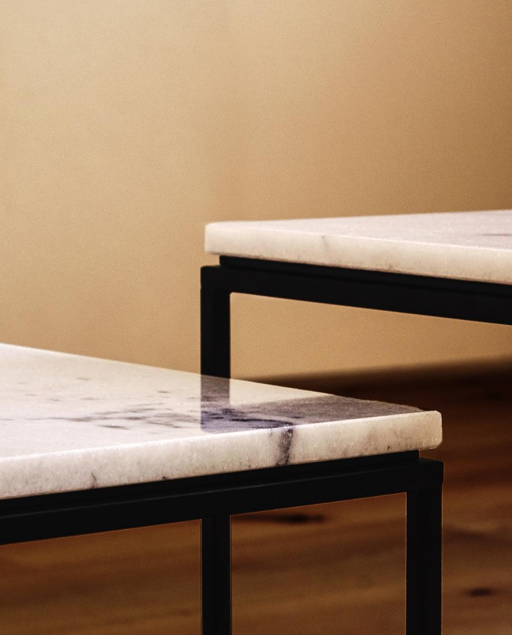 Image 6 Du Produit Table En Marbre Noire Design Tisch Wohnzimmermobel Marmortisch