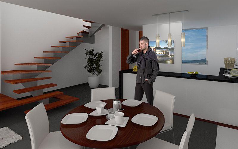 Cocina #salon #escalera #moderno #decoracion via @planreforma ...