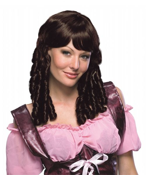 Auburn Brown Baby Doll Ringlet Wig Wigs Curly Wigs Costume
