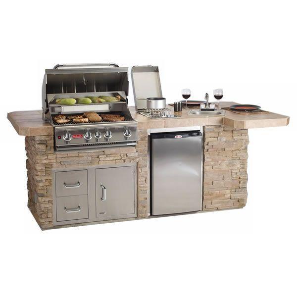 Bull Outdoor BBQ Grilling Island WoodlandDirect Grilling - edelstahl outdoor küche