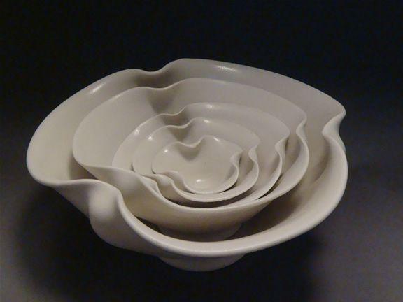 Elizabeth Cohen Wellesley Ma Small Nesting Set Pottery Clay Ceramics