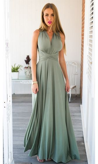 My One And Only Light Olive Green Adjustable Convertible Maxi Dress Sold Out Light Green Bridesmaid Dresses Long Green Bridesmaid Dresses Green Bridesmaid Dresses