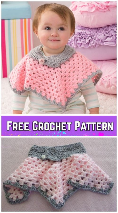 Crochet Granny Stitch Poncho Free Crochet Patterns - Video | yarn ...
