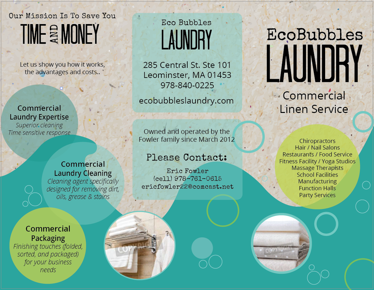 Laundry Eco Friendly Bubbles Brochure Typography Brochure