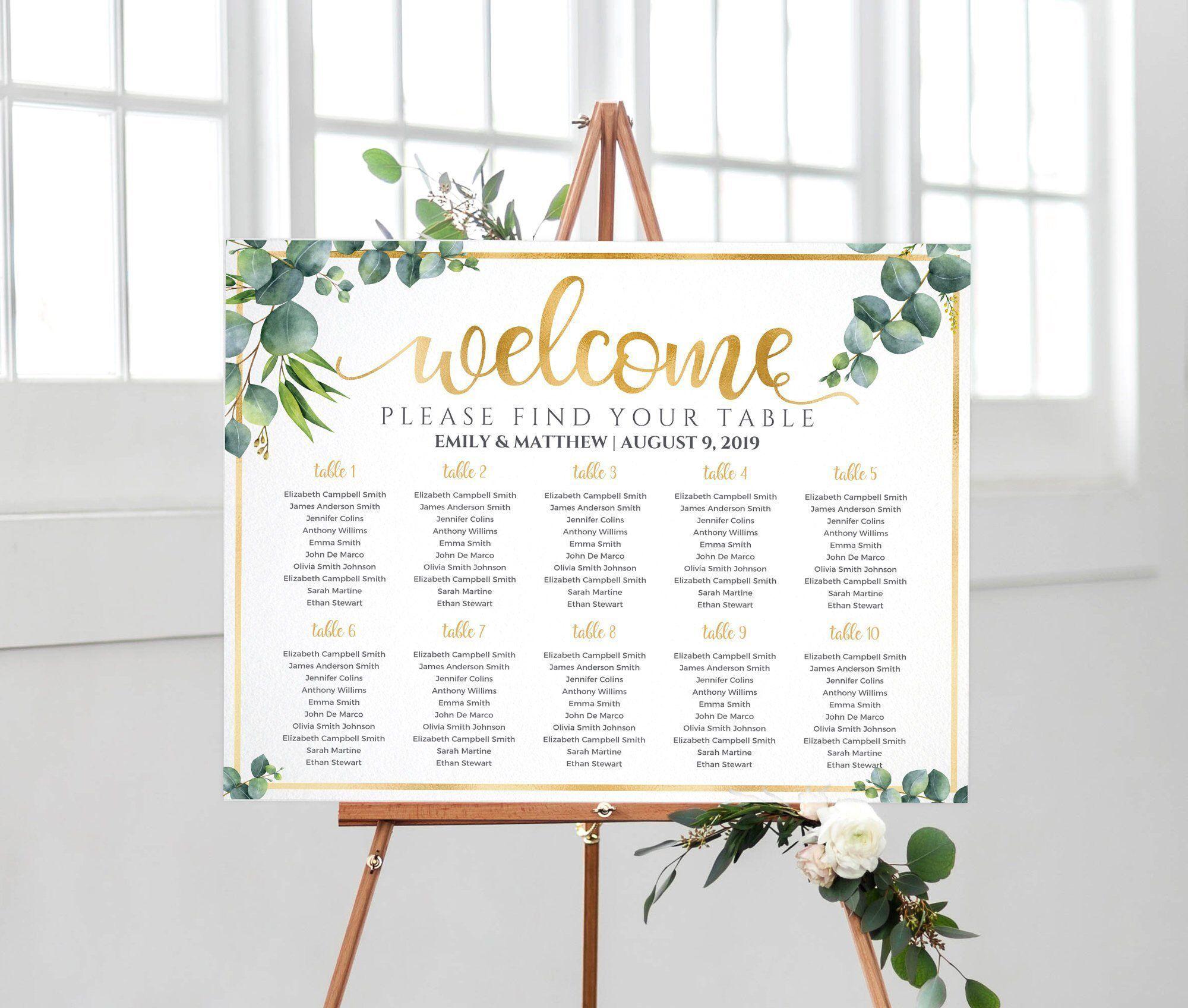 Wedding seating chart, Wedding Table Plan, Seating chart