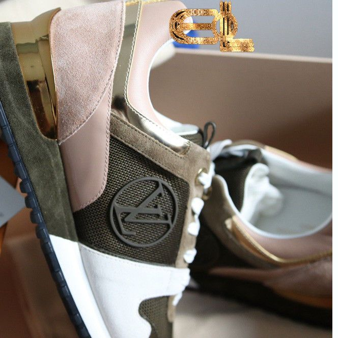 23d7dd97ca13 RARE LOUIS VUITTON RUNAWAY KAKI-SNEAKERS TRAINERS SOLD OUT Size 8   LouisVuitton  Trainers