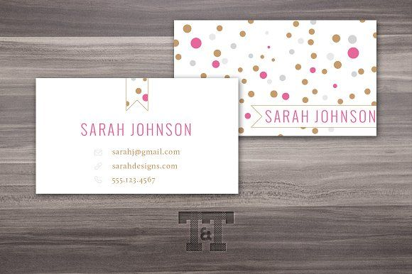 Glam Dots Business Card Business Cards Creative Templates Business Cards Layout Business Card Template Design