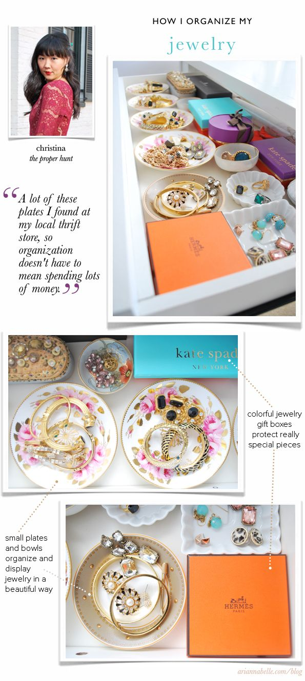 Arianna Belle The Blog: How Christina Organizes Her Jewelry // How I Organize