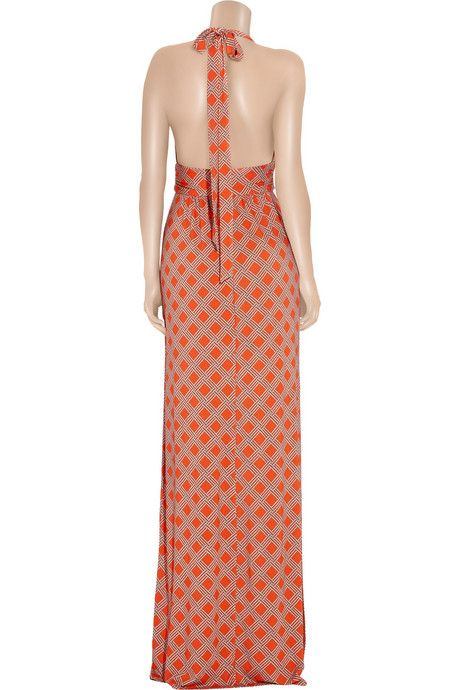 Milly Rope-print stretch-jersey maxi dress