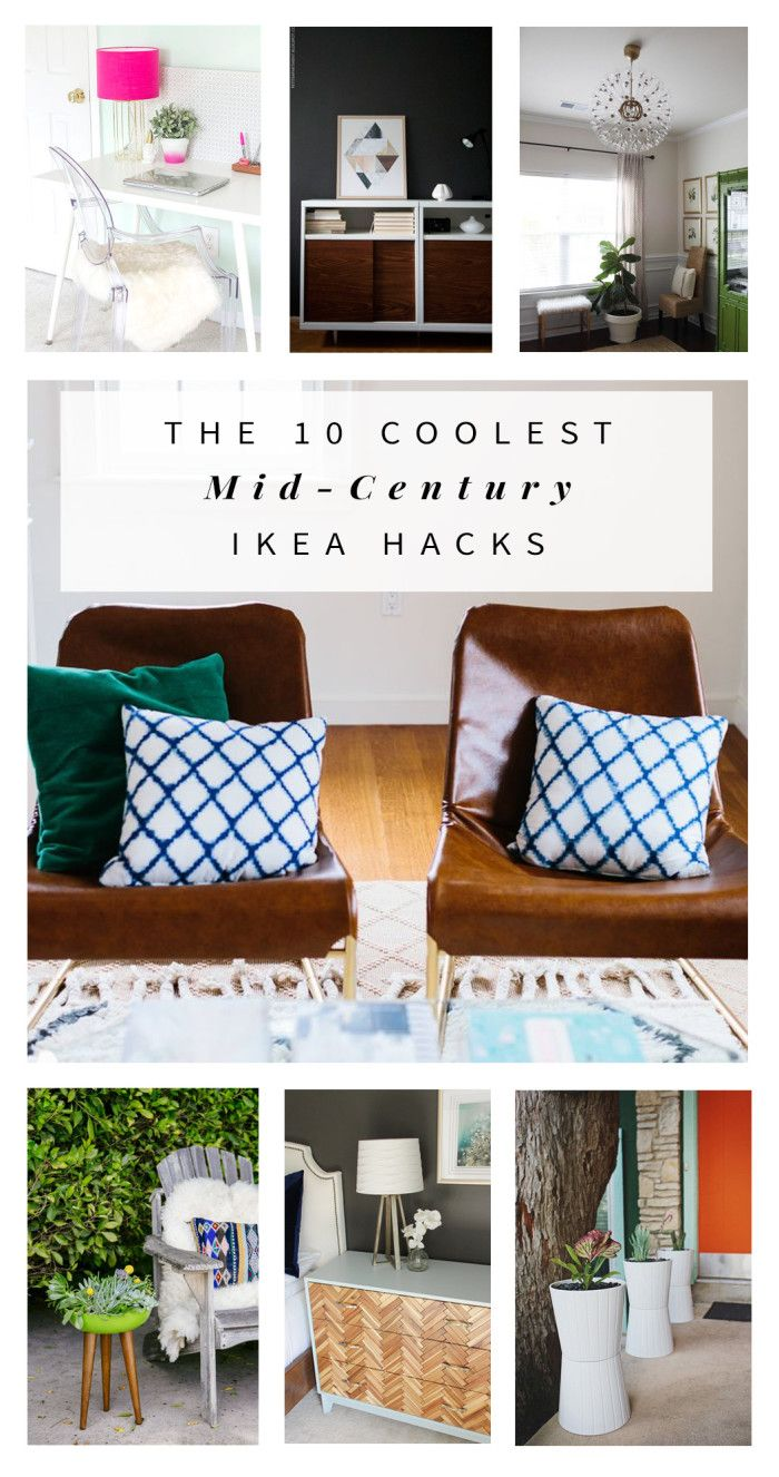 The 10 Coolest Mid Century Ikea Hacks For The Home Mid Century