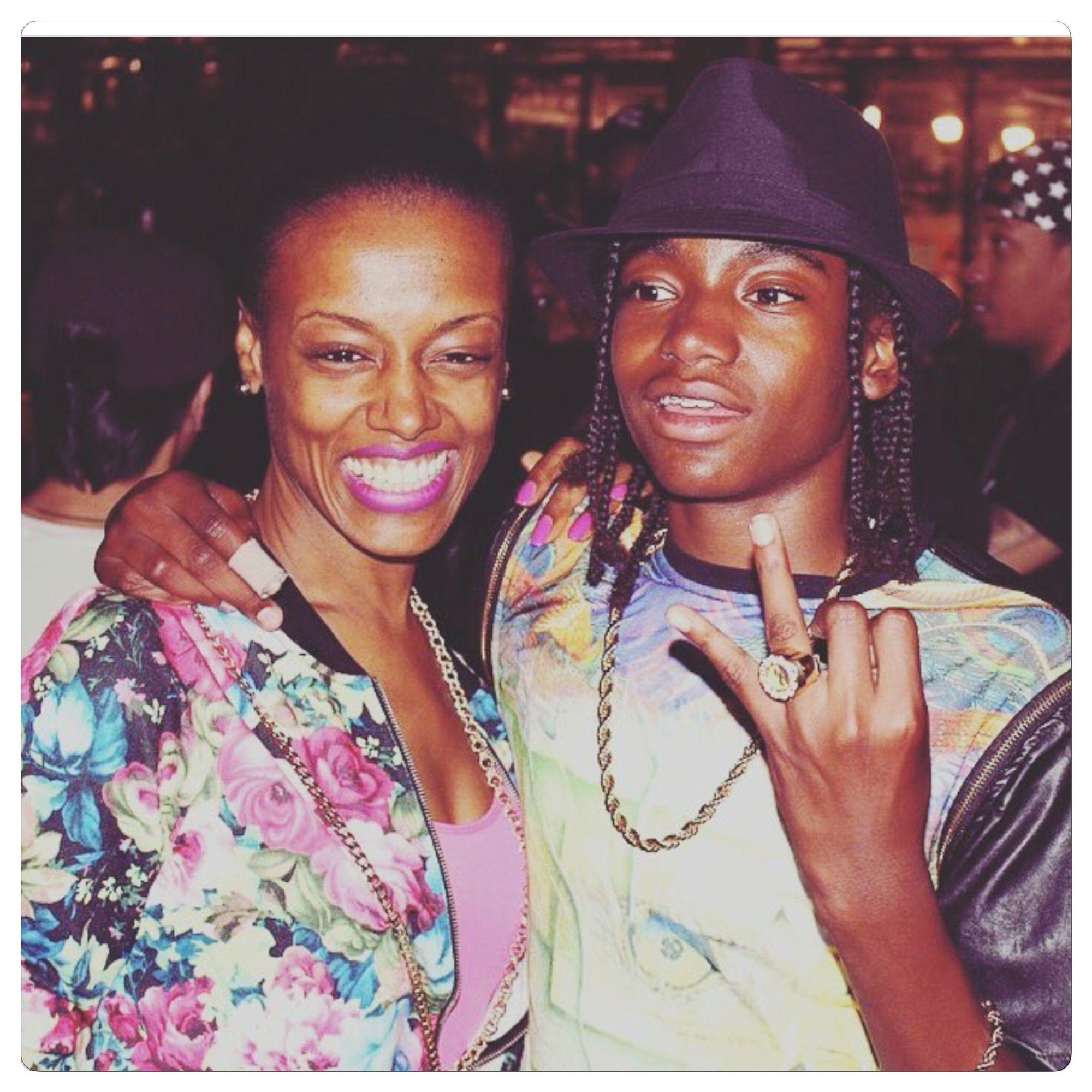 Mani winner of The Rap Game Season 2 & his mom.