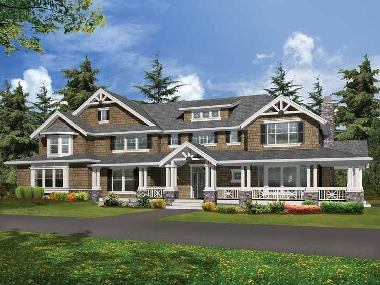 Craftsman Style House Plan 4 Beds 3 5 Baths 4300 Sq Ft Plan 132 249 Luxury Craftsman House Plans Farmhouse Style House Plans Craftsman House Plans