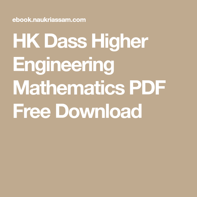 Hk dass higher engineering mathematics pdf free download latest hk dass higher engineering mathematics pdf free download latest jobs in assam pinterest pdf and students fandeluxe Images