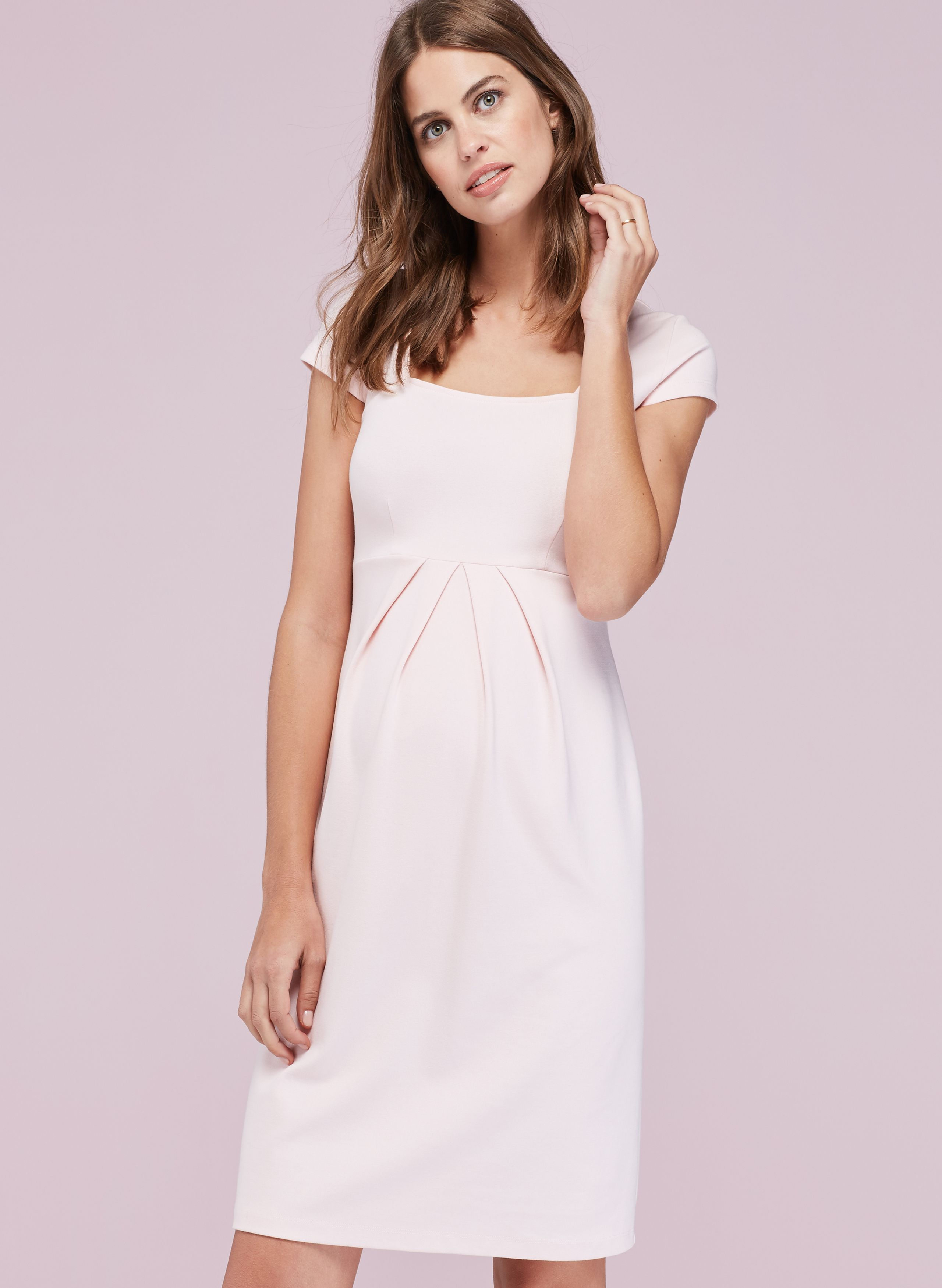 e0cc520c663c7 Farah Maternity Shift Dress in Pink at Isabella Oliver. Shop our luxury  collection today for stylish, premium quality maternity clothes that will  last.