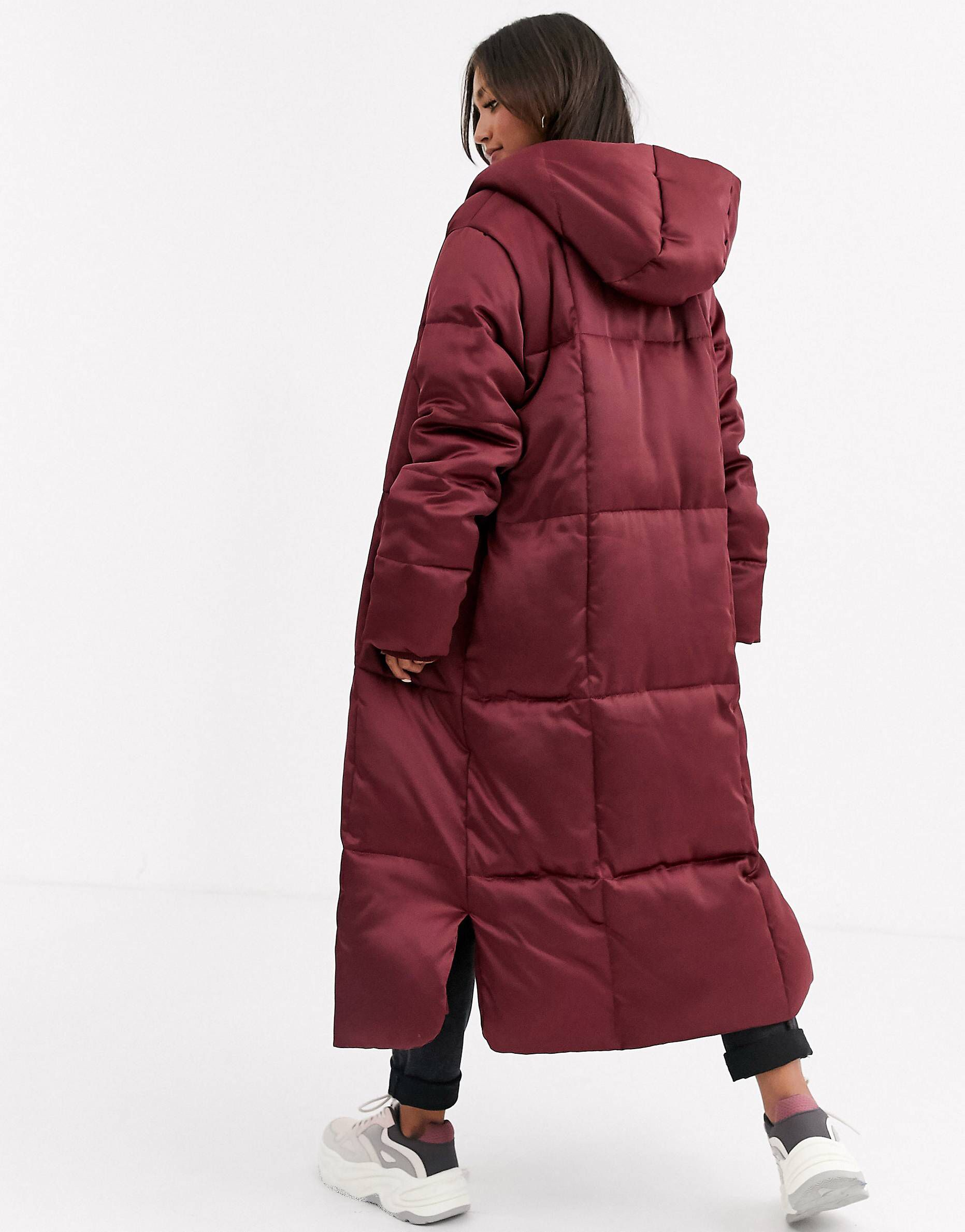 Lightweight Puffer Coat Jacket OX BLOOD