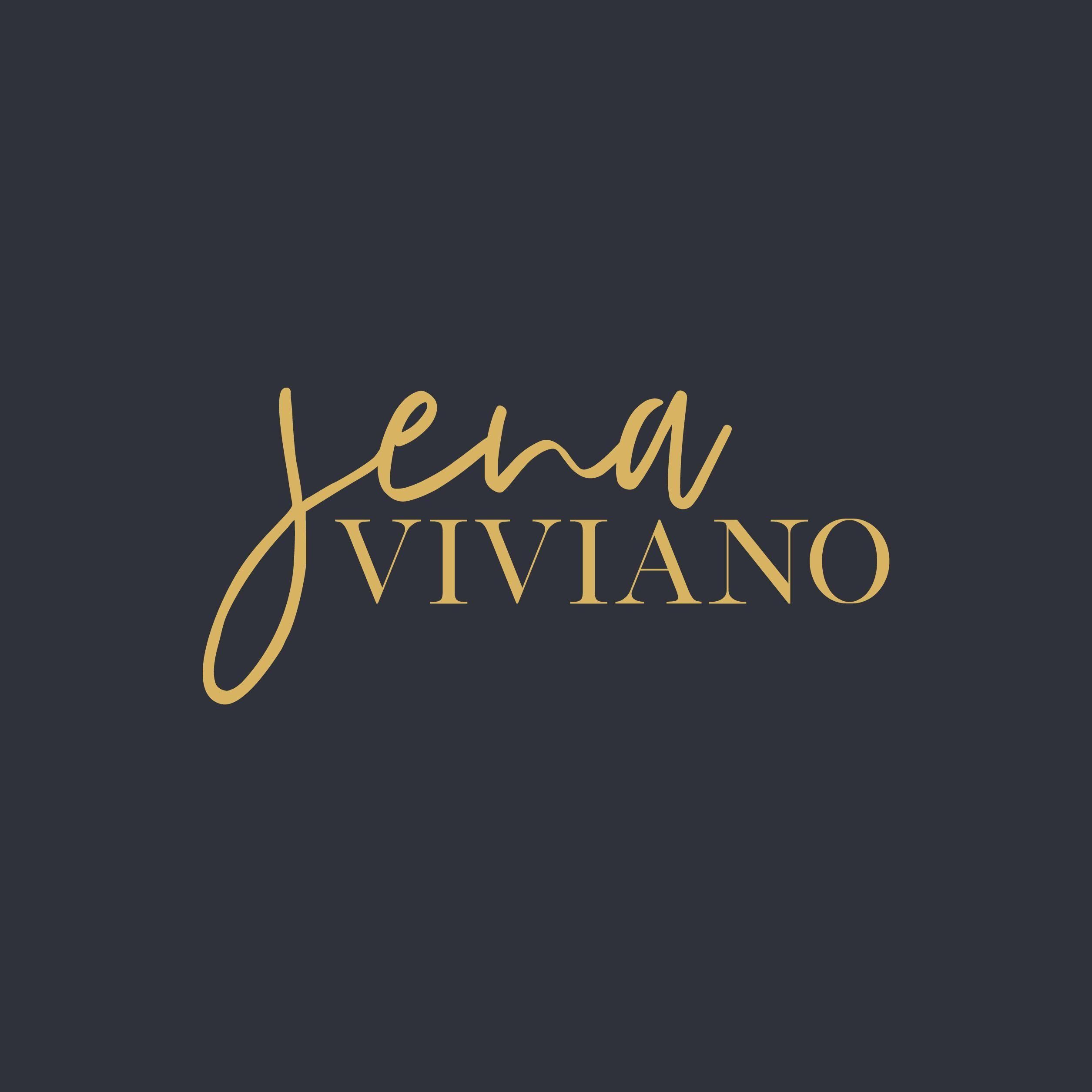 Jena Viviano Branding Design Logo Script Logo Design Branding