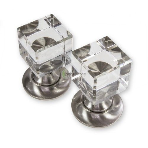 LocksOnline Cube Glass Mortice Door Knob Set \'Chill\' out with these ...