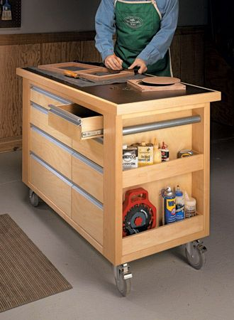 This Handy Cart Is Loaded With Storage Options And Provides A Rock Solid  Worksurface No Matter What The Task. | Woodworking Projects | Pinterest |  Woodsmith ...
