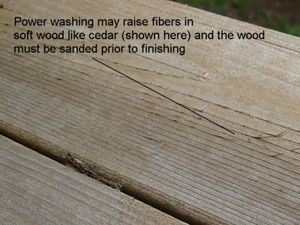 Power Wash Your Wood Deck: A Photo Tutorial: Raised Wood Fibers