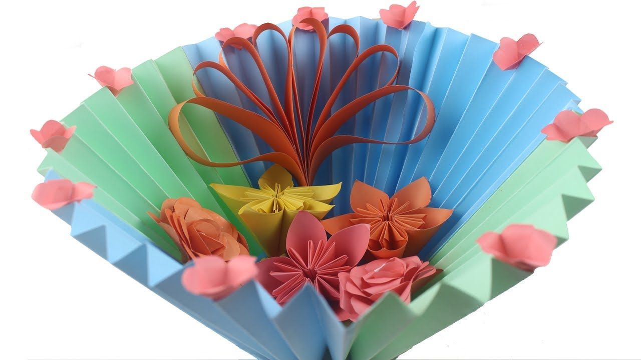 Exceptional Easy Diy Paper Basket How To Make Easy Flower Gift