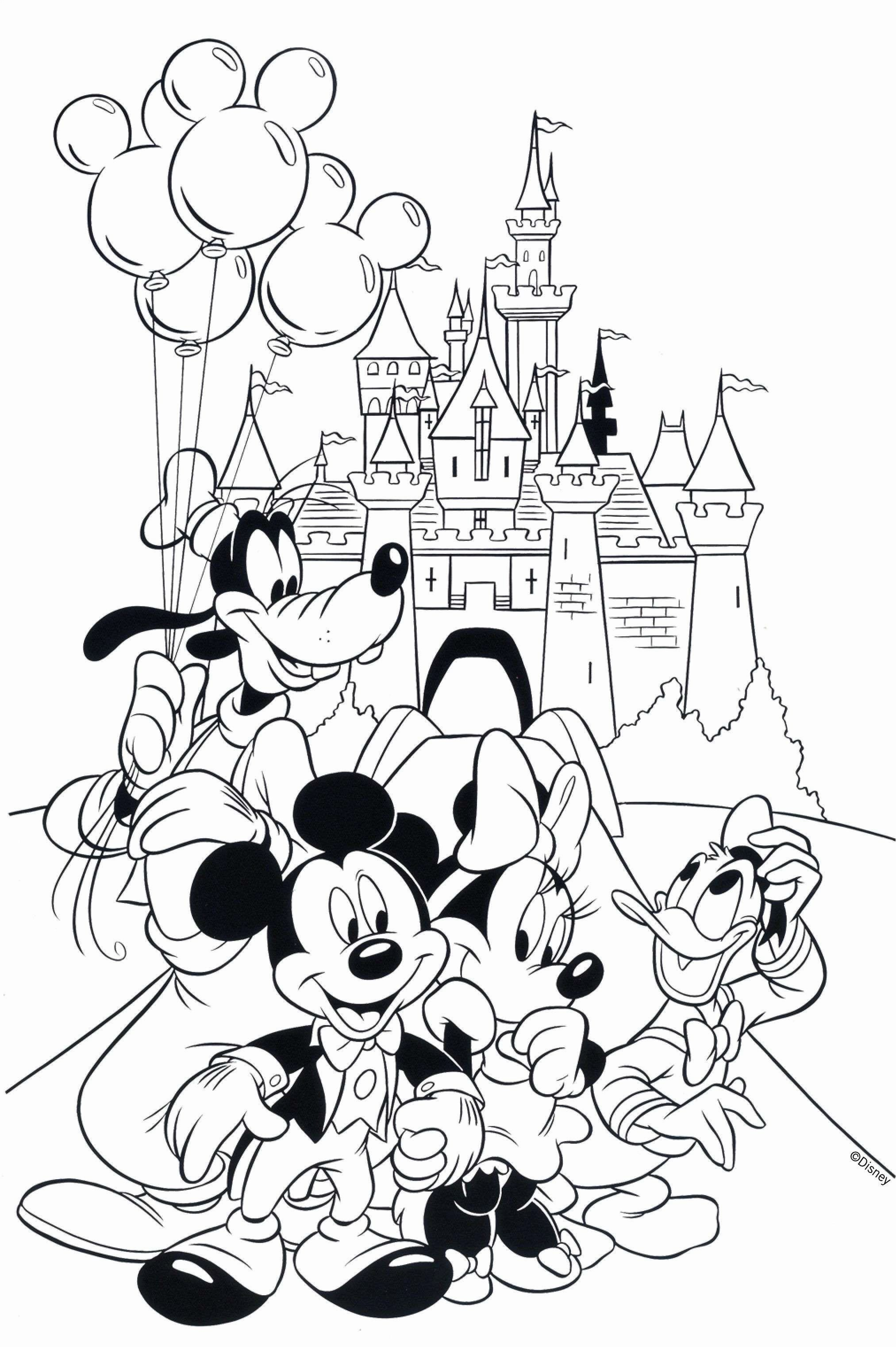 Coloring Pages Cartoon Characters Elegant Theinn Free Disney