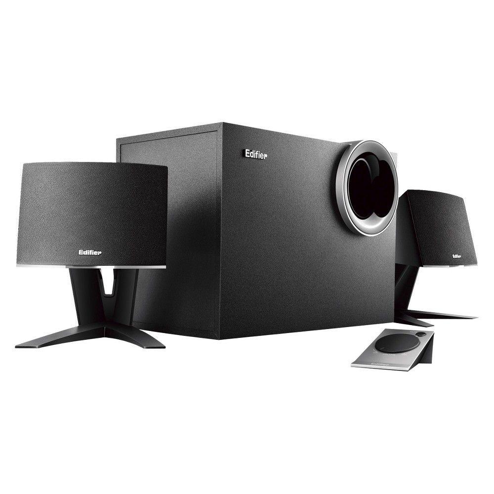 Logitech 980 000012 s120 2 piece black desktop computer speaker set - Edifier M1380 Computer Speaker System 4009884 Black
