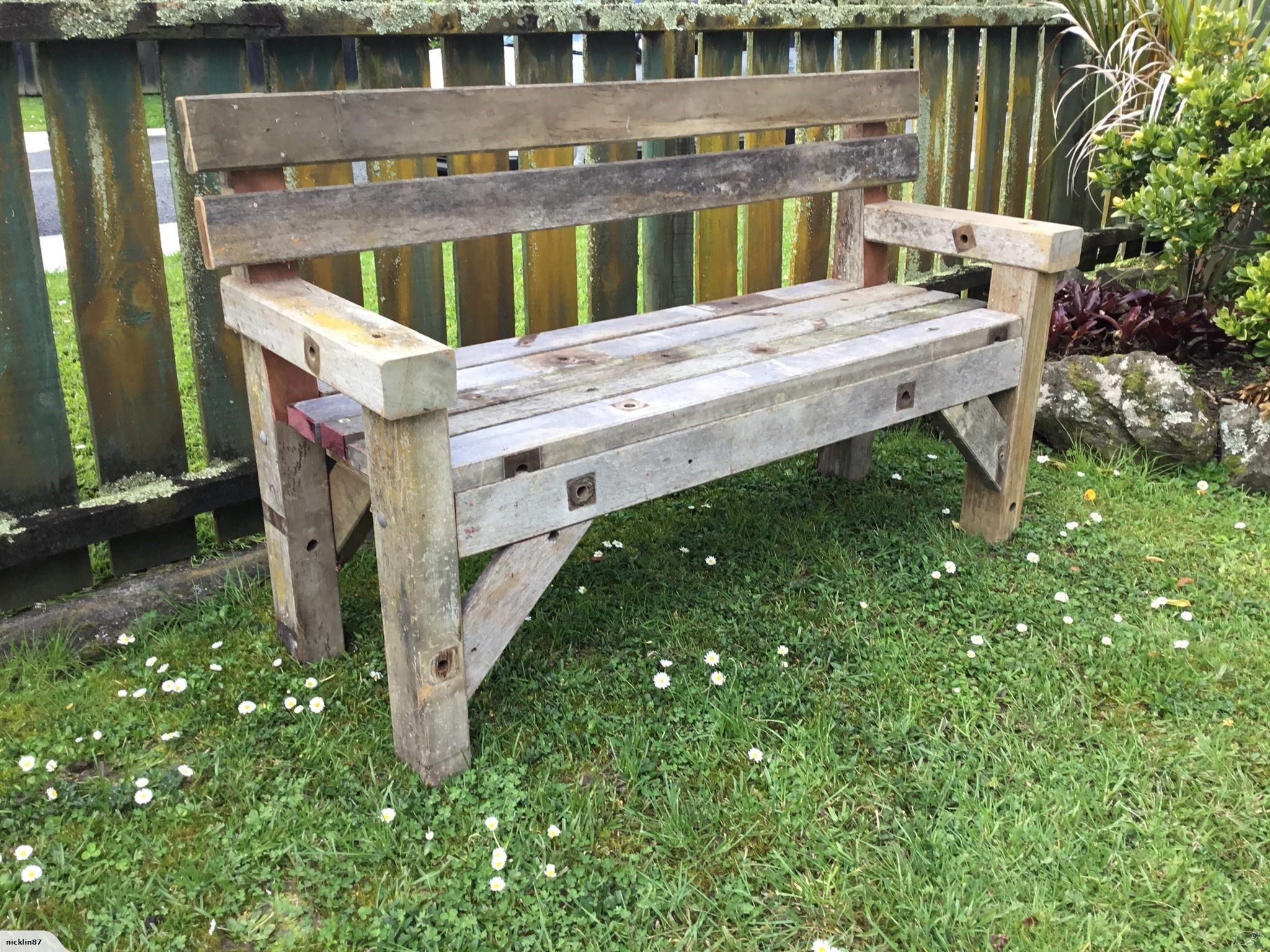 Awe Inspiring Rustic Garden Bench Seat Trade Me Cottage Garden In 2019 Ncnpc Chair Design For Home Ncnpcorg