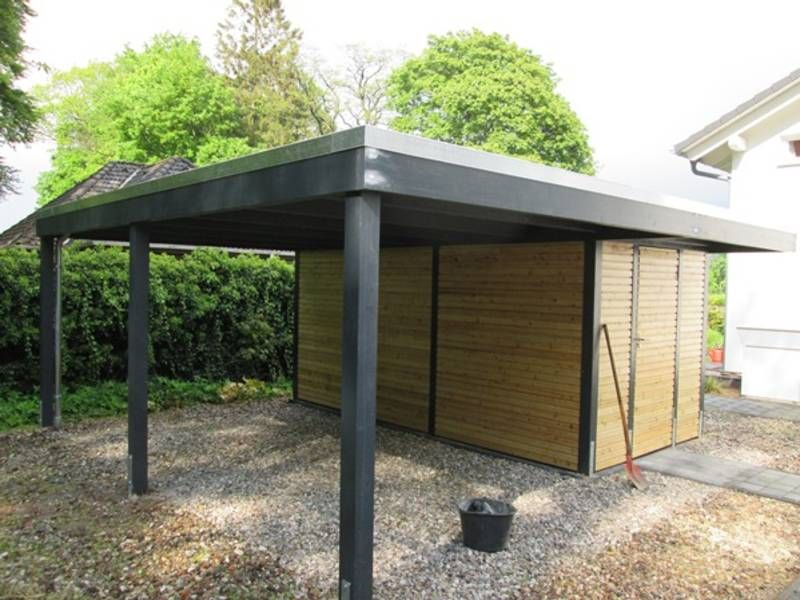 carport modern mit abstellraum we 39 ll do it. Black Bedroom Furniture Sets. Home Design Ideas
