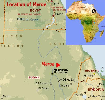 Map showing the location of the archaeological sites of the island map showing the location of the archaeological sites of the island of meroe unesco world heritage site sudan pinterest archaeological site and gumiabroncs Images