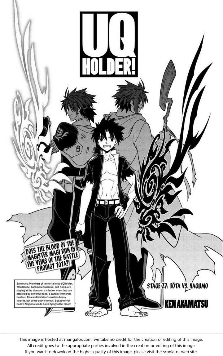 UQ Holder! 27 Tota Vs Nagumo at MangaFox.me Mangas