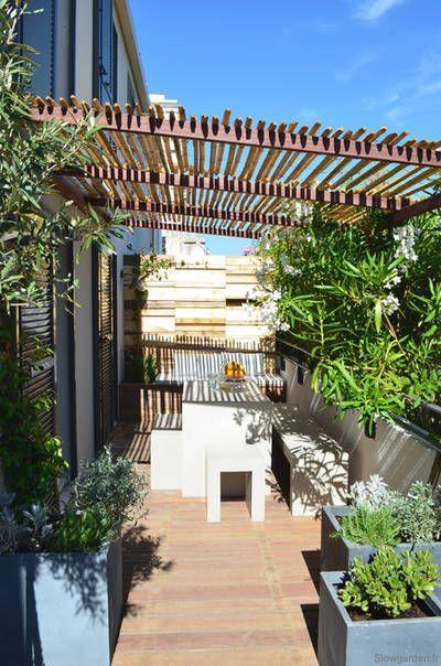 réalisations : Une terrasse entre plage et ville, Marseille, Slowgarden