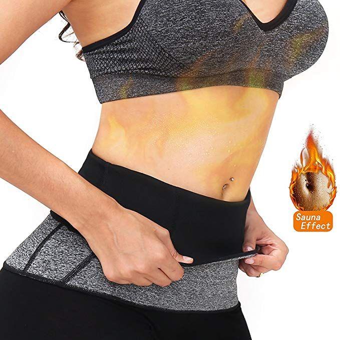 5019589e052 AGROSTE Women s Hot Thermo Sweat Neoprene Shapers Slimming Belt-Waist  Trainer Trimmer Sauna Belt-