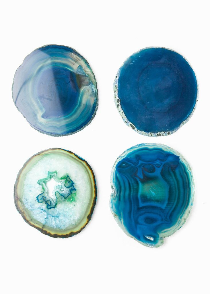 Agate Coasters - Blue by www.SoulMakes.com