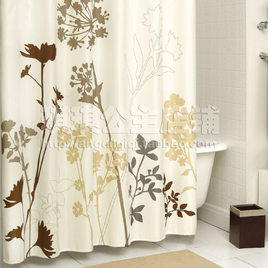 European elegant american thick waterproof polyester shower curtain