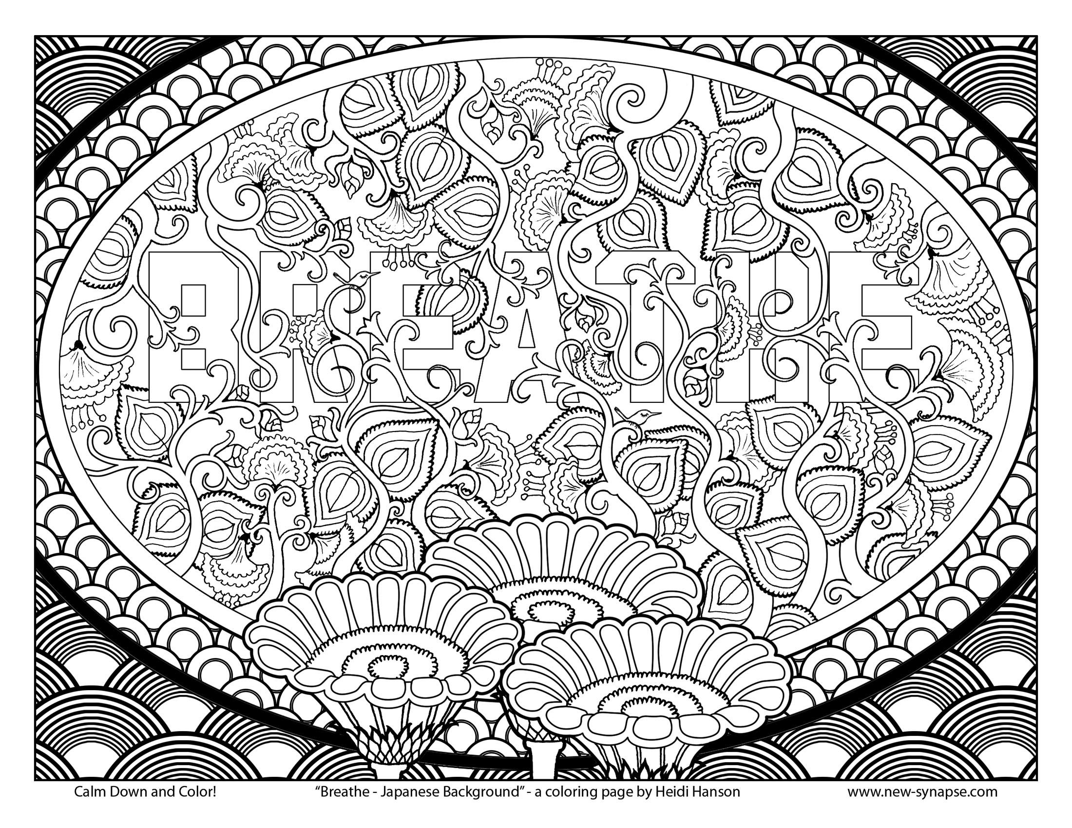 Free coloring pages japan - Free Coloring Page Breathe Japanese Background