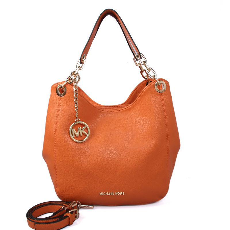 98ccb8ae4f48 Michael Kors Fulton Large Leather Shoulder Bag (big)Orange  9143  -  56.00    Luxury Tote Bags