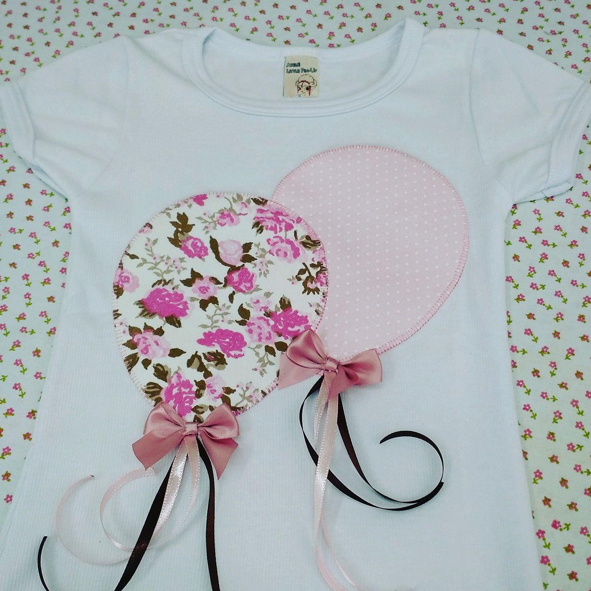 Baby look infantil balões | Applikationen, Nähen fürs Baby und Das baby