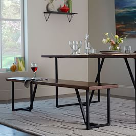 geometric base dining bench reception pinterest dining bench