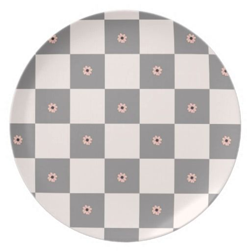 Pink Checkered Dinner Plates  sc 1 st  Pinterest & Pink Checkered Dinner Plates | Pink and Gray Checkered | Pinterest