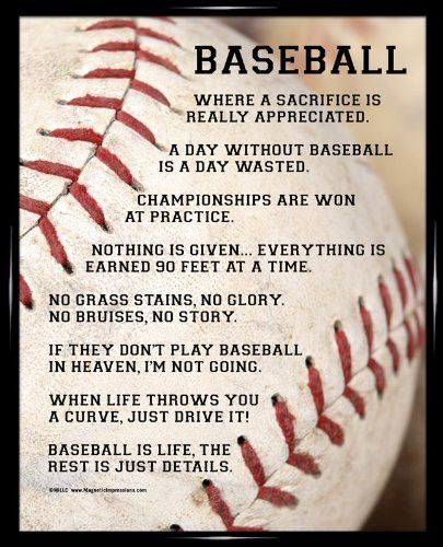 "Amazon.com : Framed Baseball Player Sayings 8"" x 10"" Poster Print ..."