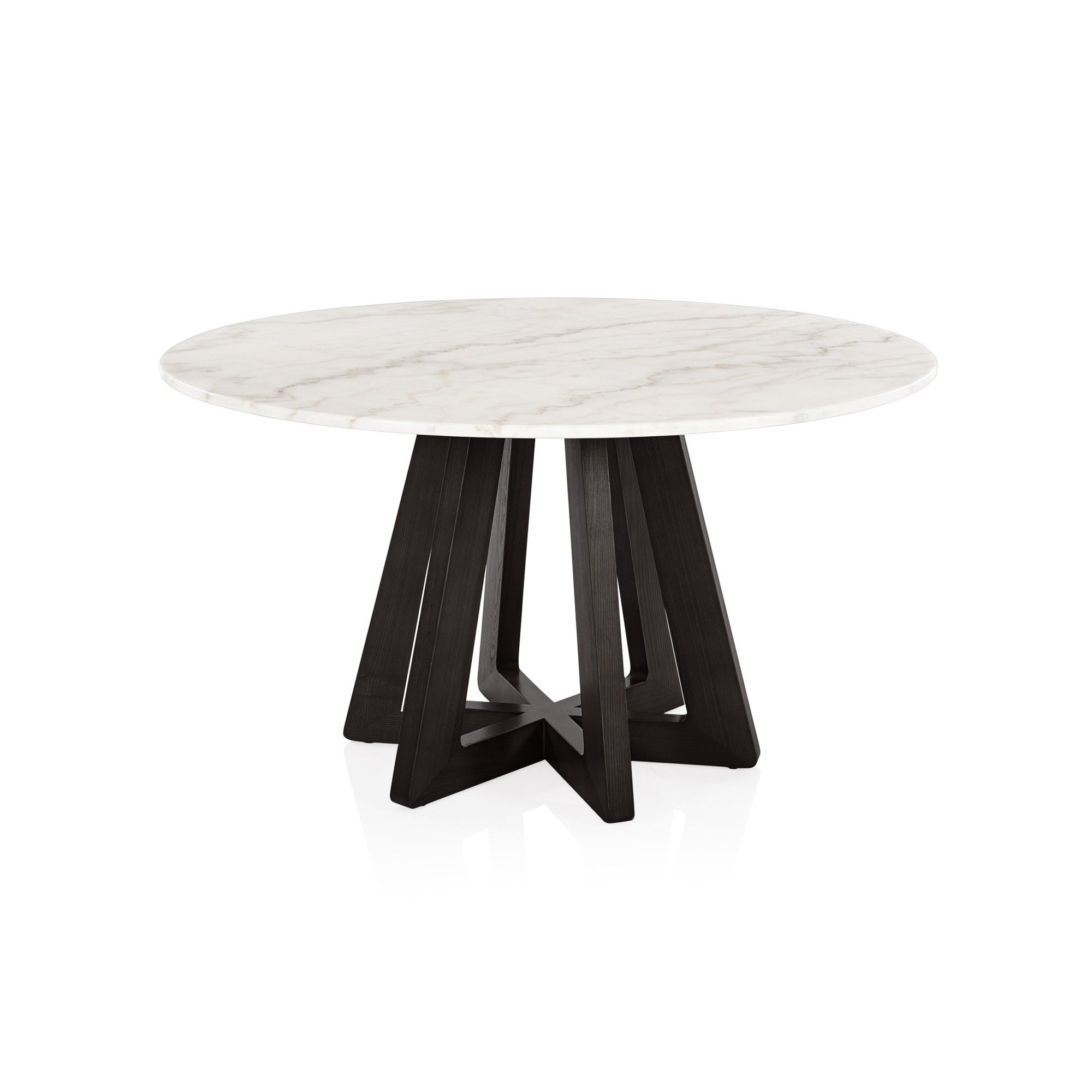 Beautiful Modern Black Round Dining Table